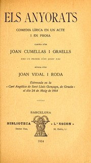 Cover of: Els anyorats