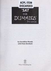 Cover of: SAT for dummies