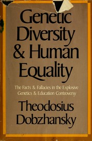 Cover of: Genetic diversity and human equality