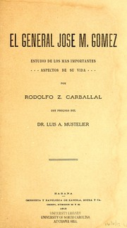 Cover of: El general José M. Gómez