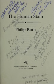 Cover of: The human stain | Philip Roth
