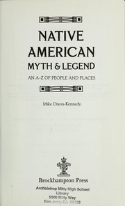 Cover of: Native American Myth & Legend
