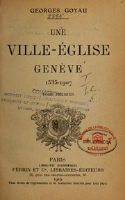 Cover of: Une ville-église
