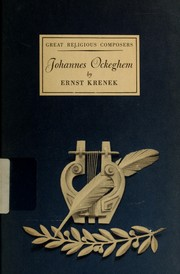 Cover of: Johannes Ockeghem