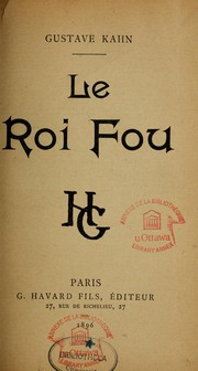 Cover of: Le roi fou