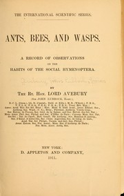 Cover of: Ants, bees, and wasps
