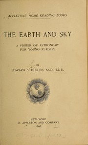 Cover of: The earth and sky