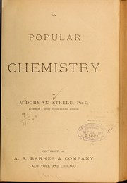 Cover of: A popular chemistry