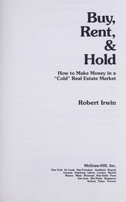 Cover of: Buy, rent & hold | Robert Irwin