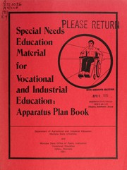 Cover of: Special-needs education material for vocational and industrial education