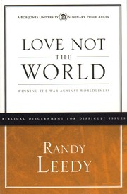 Cover of: Love not the world