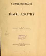 Cover of: A completed nomenclature for the principal roulettes