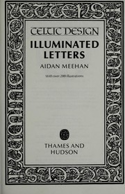 Cover of: Illuminated letters | Aidan Meehan