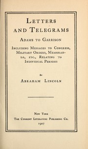 Cover of: Letters and telegrams | Abraham Lincoln
