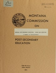 Cover of: Montana post-secondary education
