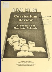 Cover of: Curriculum review | Montana. Office of Public Instruction