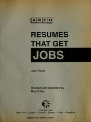 Cover of: Resumes that get jobs | Jean Reed