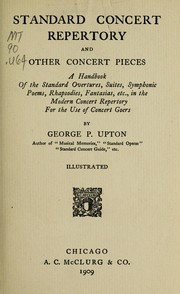 Cover of: Standard concert repertory and other concert pieces