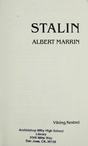 Cover of: Stalin | Albert Marrin