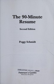 Cover of: The 90-minute resume
