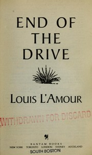 Cover of: End of the drive. | Louis L
