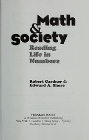 Cover of: Math & society: reading life in numbers