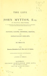 Cover of: The life of John Mytton