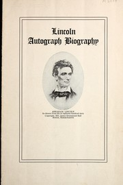 Cover of: Lincoln autograph biography