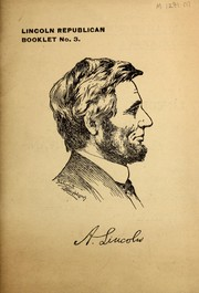 Cover of: Lincoln Republican booklet