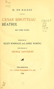 Cover of: César Birotteau, Béatrix, and other stories