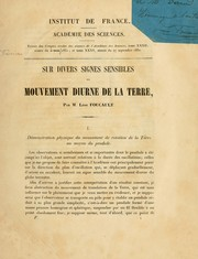 Cover of: Sur divers signes sensibles du mouvement diurne de la terre