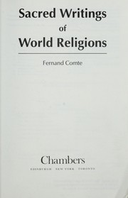 Cover of: Sacred writings of world religion | Fernand Comte