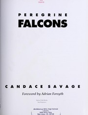 Cover of: Peregrine falcons | Candace Sherk Savage