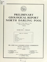 Cover of: Preliminary geological report North Darling Pool