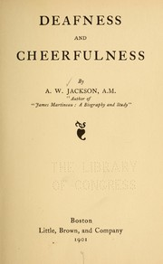 Cover of: Deafness and cheerfulness