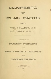 Cover of: Manifesto of plain facts