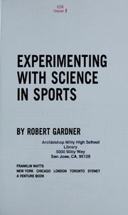 Cover of: Experimenting with science in sports