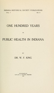 Cover of: One hundred years in public health in Indiana