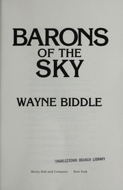 Cover of: Barons of the sky | Wayne Biddle