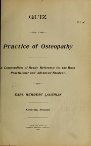 Cover of: Quiz on the practice of osteopathy