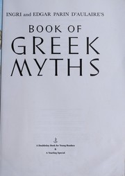 Cover of: Ingri and Edgar Parin d'Aulaire's Book of Greek myths
