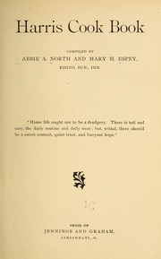 Cover of: Harris cook book