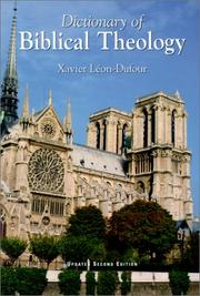 Cover of: Dictionary of Biblical Theology | Father Xavier Leon Dufour
