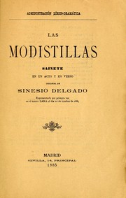 Cover of: Las modistillas