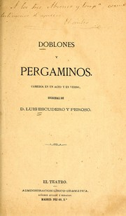 Cover of: Doblones y pergaminos