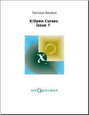 Cover of: X/Open Curses, Issue 7 |