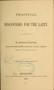 Cover of: Practical discourses for the laity
