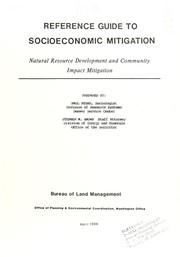 Cover of: Reference guide to socioeconomic mitigation
