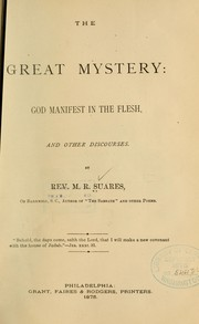 Cover of: The great mystery | M. R. Suares