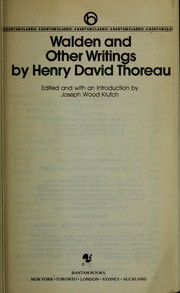 Cover of: Walden and other writings | Henry David Thoreau